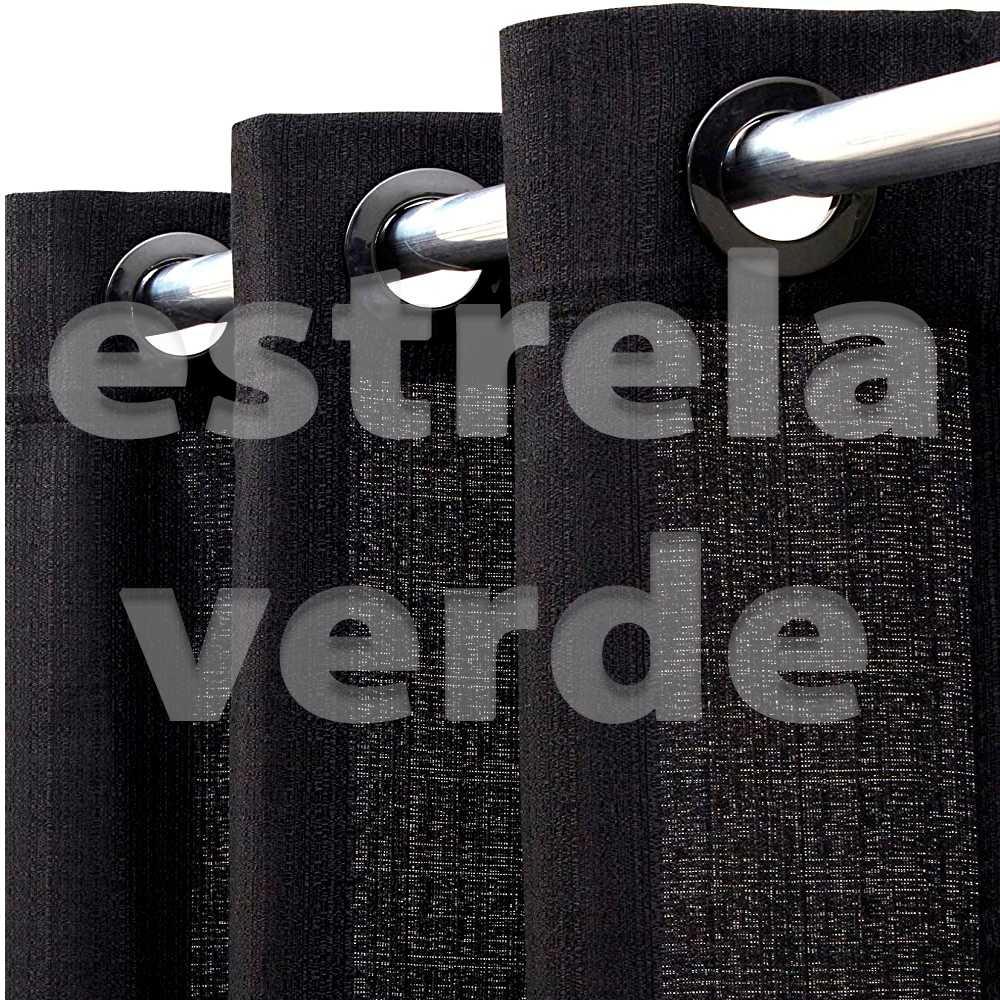 CORTINA VENEZA 2,60X1,70 9999 PRETO  - Estrela Verde