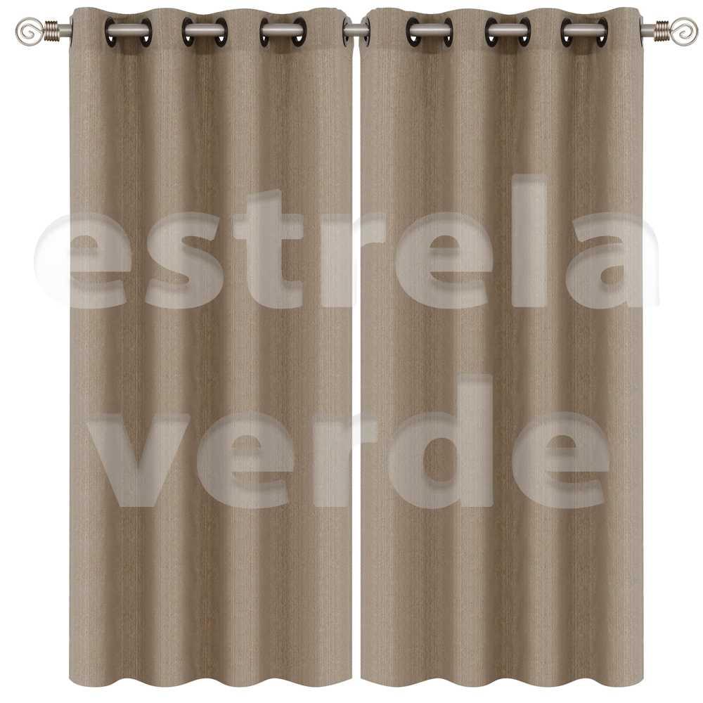 CORTINA VENEZA 2,60X2,30 6359 NUDE  - Estrela Verde