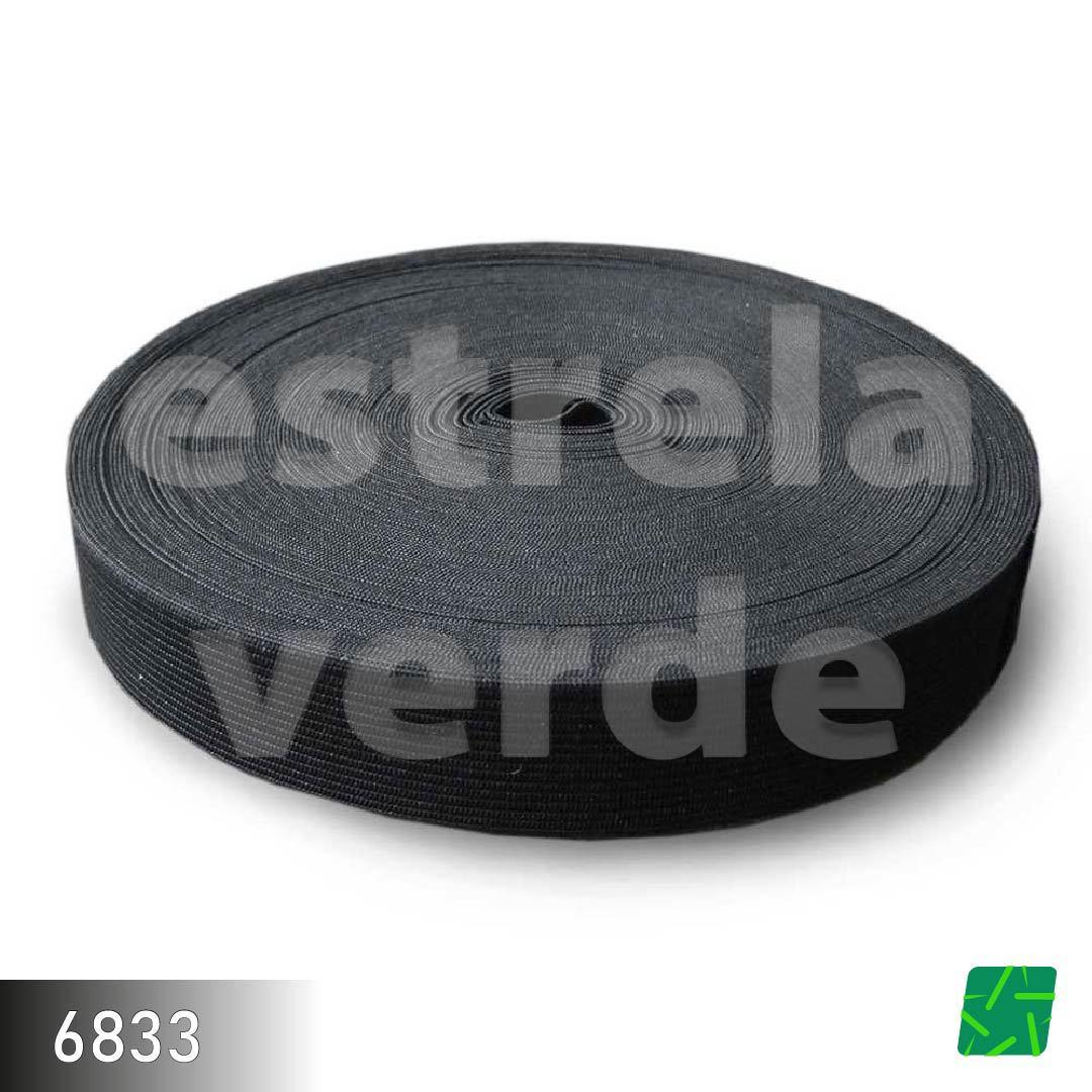 ELASTICO 25MM PRETO 25M  - Estrela Verde