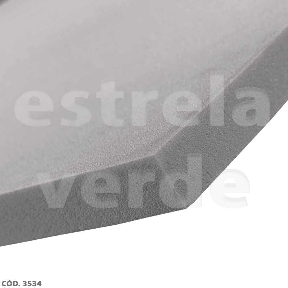 ESPUMA D33 7CM GRAFITE 1,90 LARG  - Estrela Verde