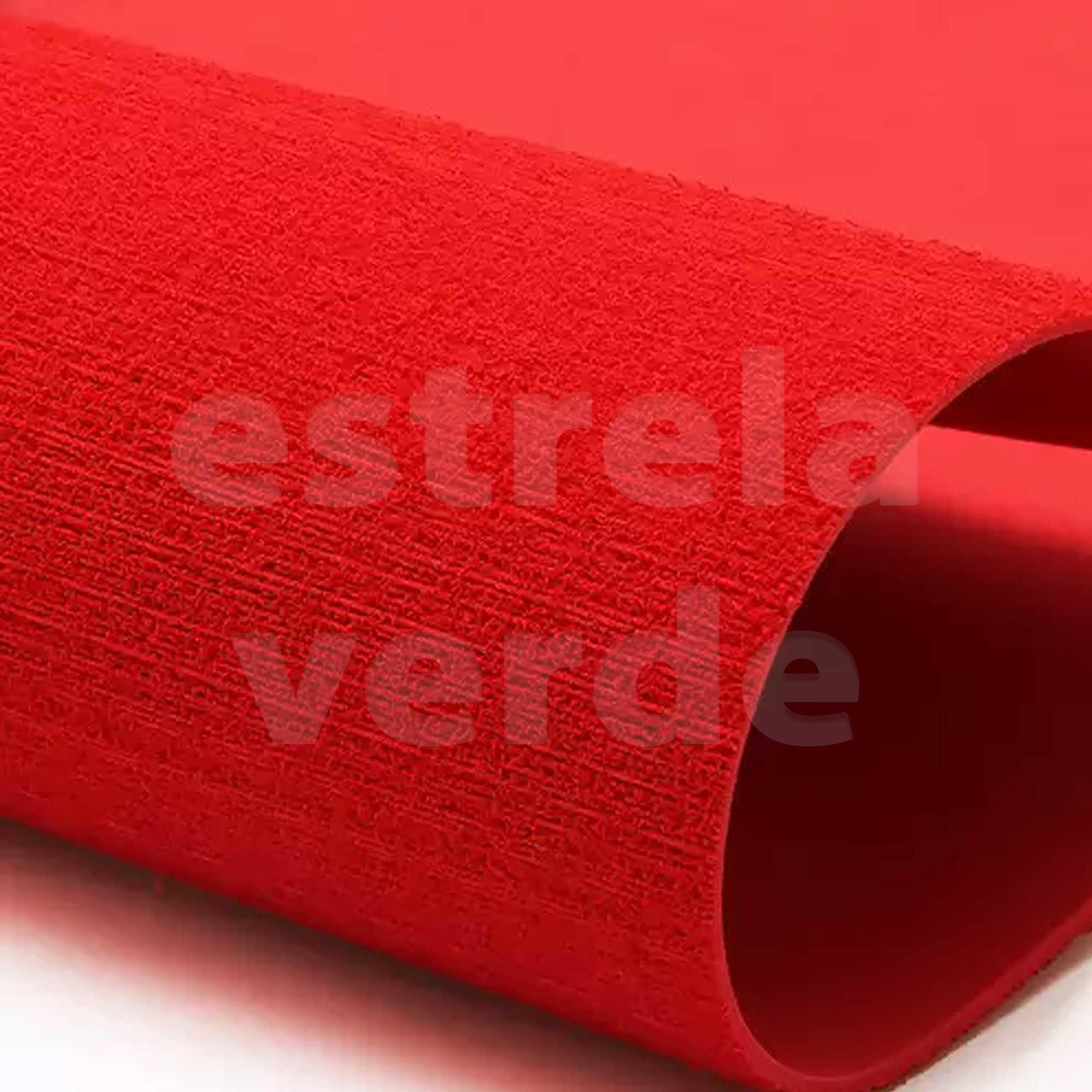 EVA ATOALHADO 40X60 VERMELHO 2MM  - Estrela Verde