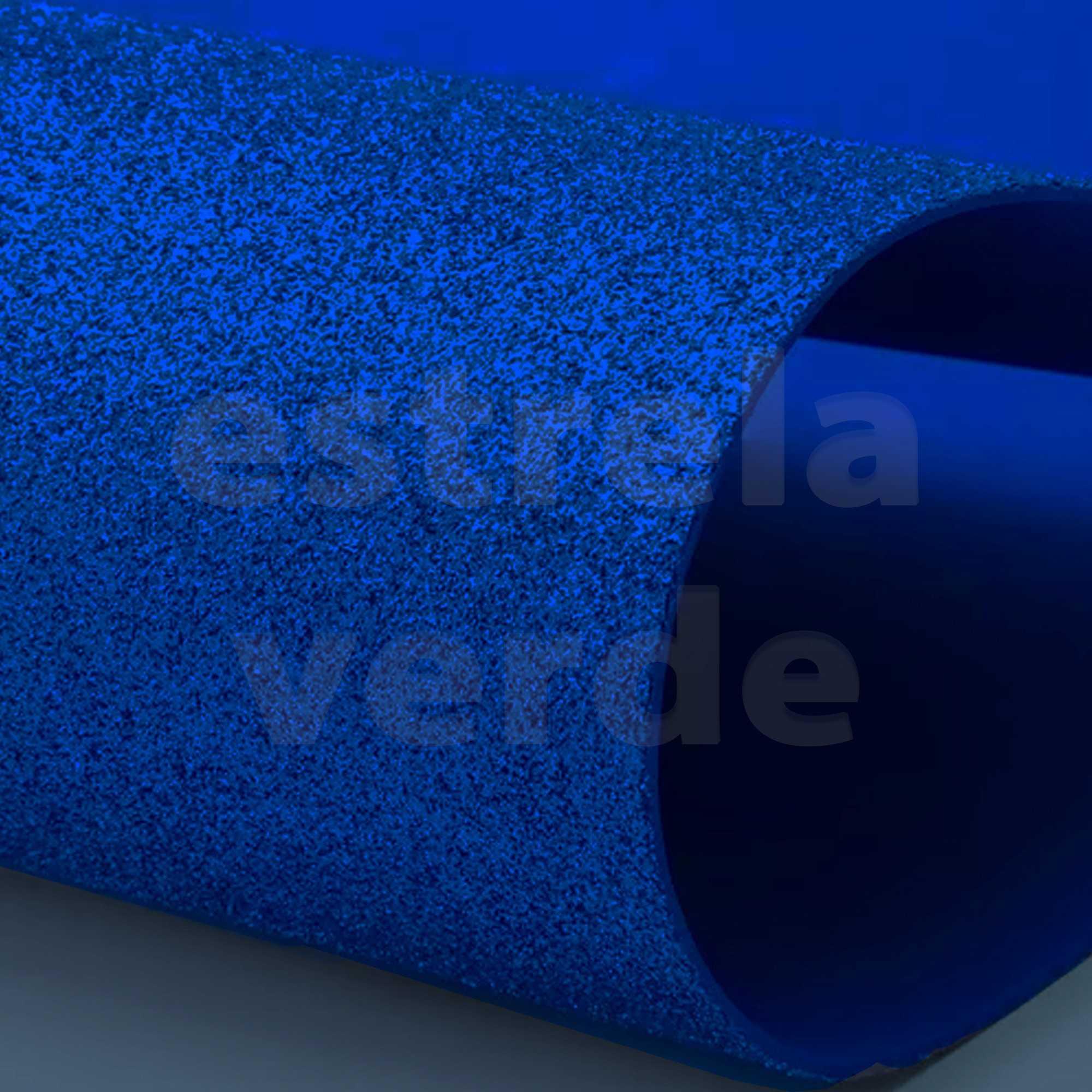 EVA GLITTER 40X60 AZUL ROYAL 2MM  - Estrela Verde