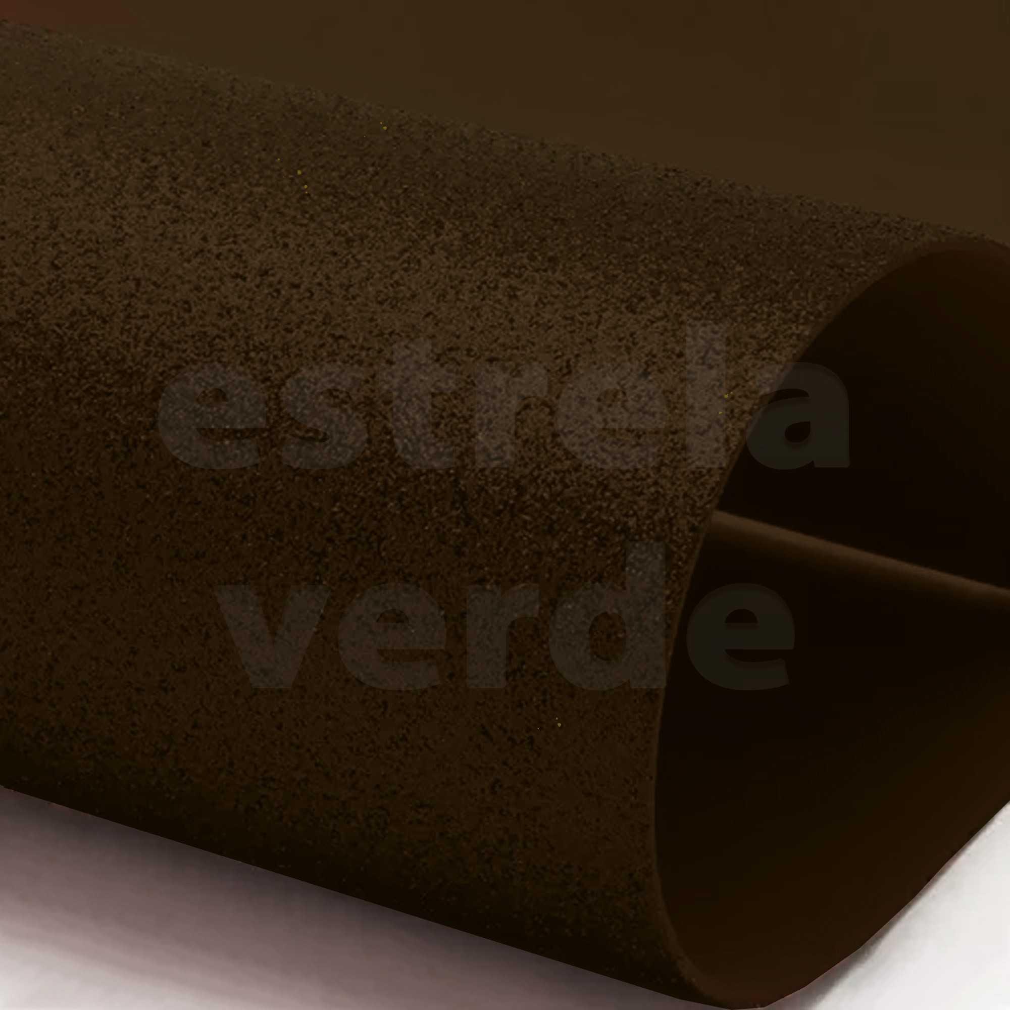 EVA GLITTER 40X60 MARROM 2MM  - Estrela Verde