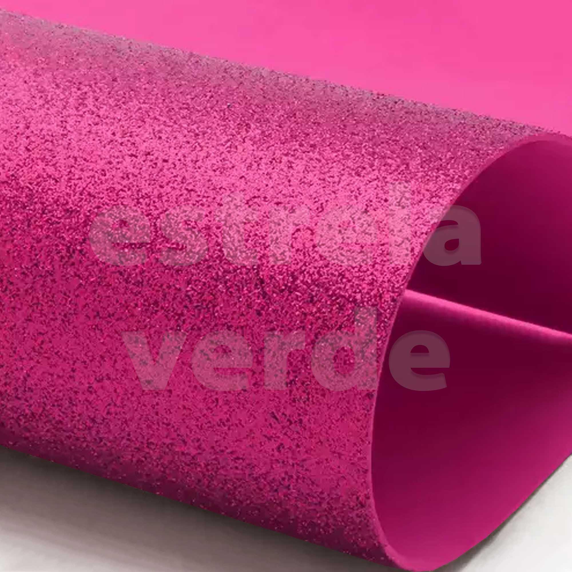 EVA GLITTER 40X60 ROSA PINK 2MM  - Estrela Verde