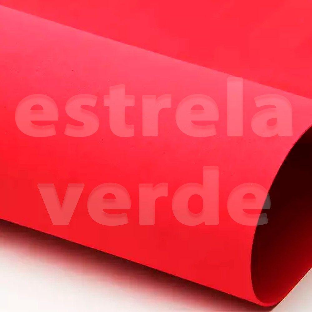 EVA PLACA 25X35 VERMELHO  - Estrela Verde
