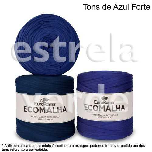FIO DE MALHA TONS DE AZUL FORTE 140M  - Estrela Verde
