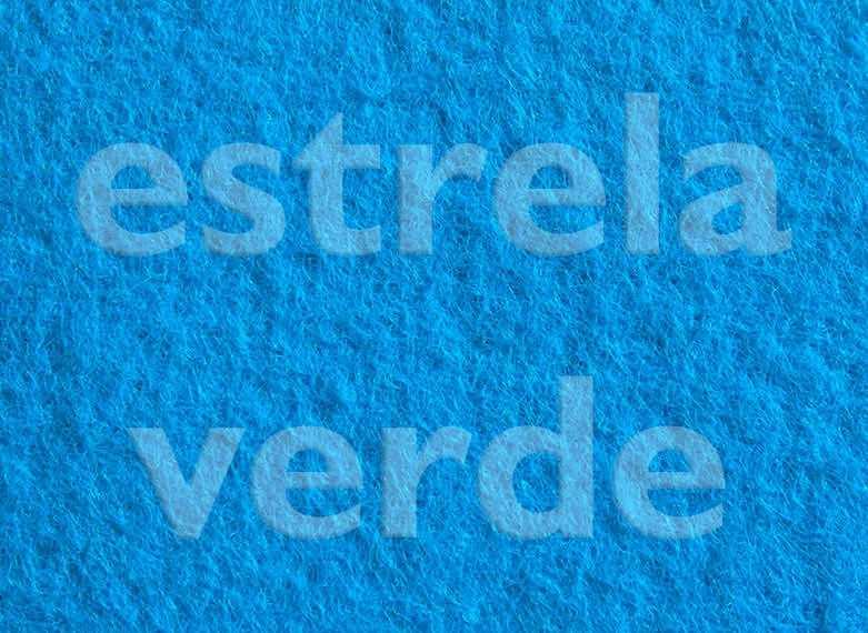 FORRACAO AZUL CEU C/ RESINA LISA (434) 2,00 LARG  - Estrela Verde