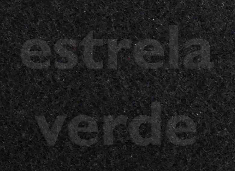 FORRACAO PRETA C/ RESINA LISA (900) 2,00 LARG  - Estrela Verde