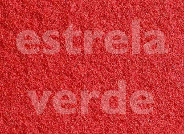 FORRACAO VERMELHO CEREJA C/ RESINA LISA (253) 2,00  - Estrela Verde
