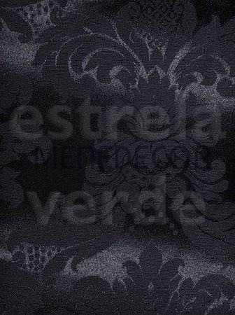 JACQUARD PRETO (1139-22) 2,80 LARG DESCONTINUADO  - Estrela Verde