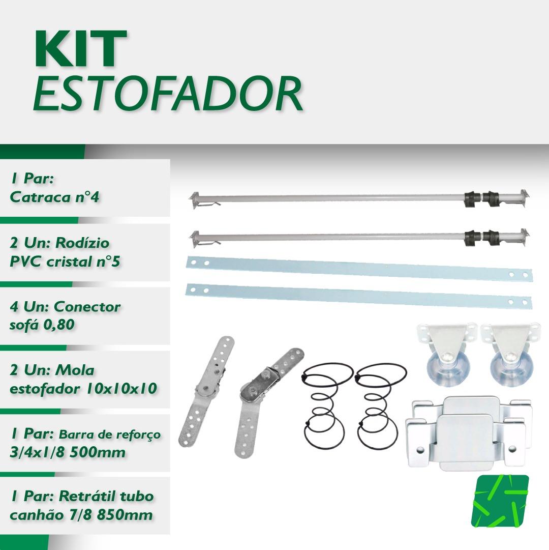 KIT ESTOFADOR FERRAGENS  - Estrela Verde