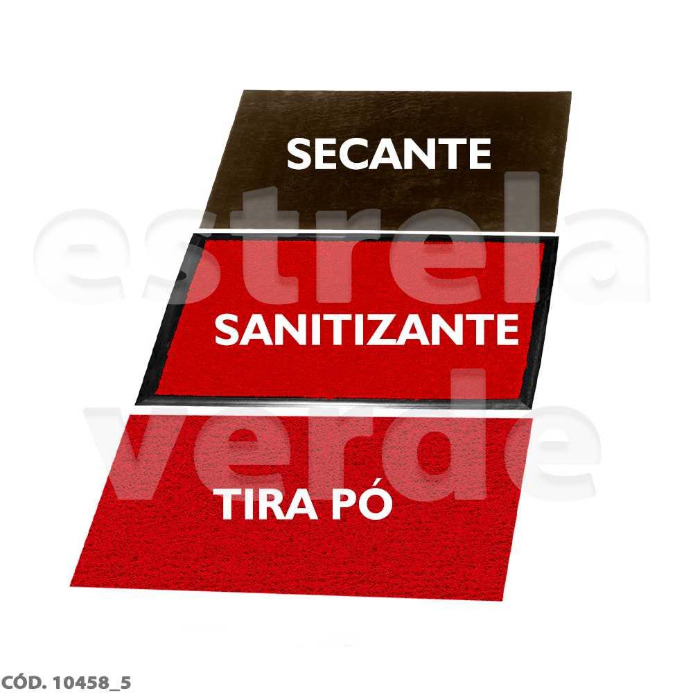 KIT TAPETE SANITIZANTE 10MM  - Estrela Verde