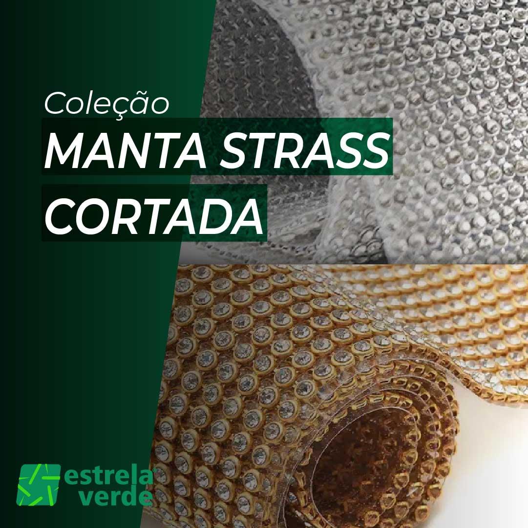 MANTA STRASS CORTADA 44CMX7,25CMX4MM  - Estrela Verde