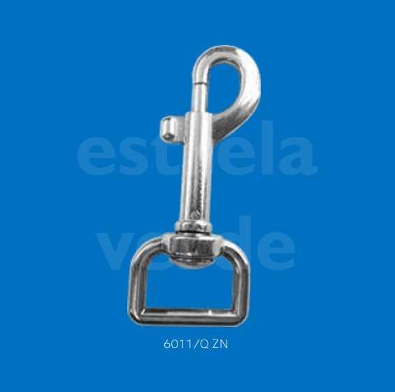 MOSQUETAO METAL 6011/Q P/ COLEIRA Q ZN 10UN  - Estrela Verde