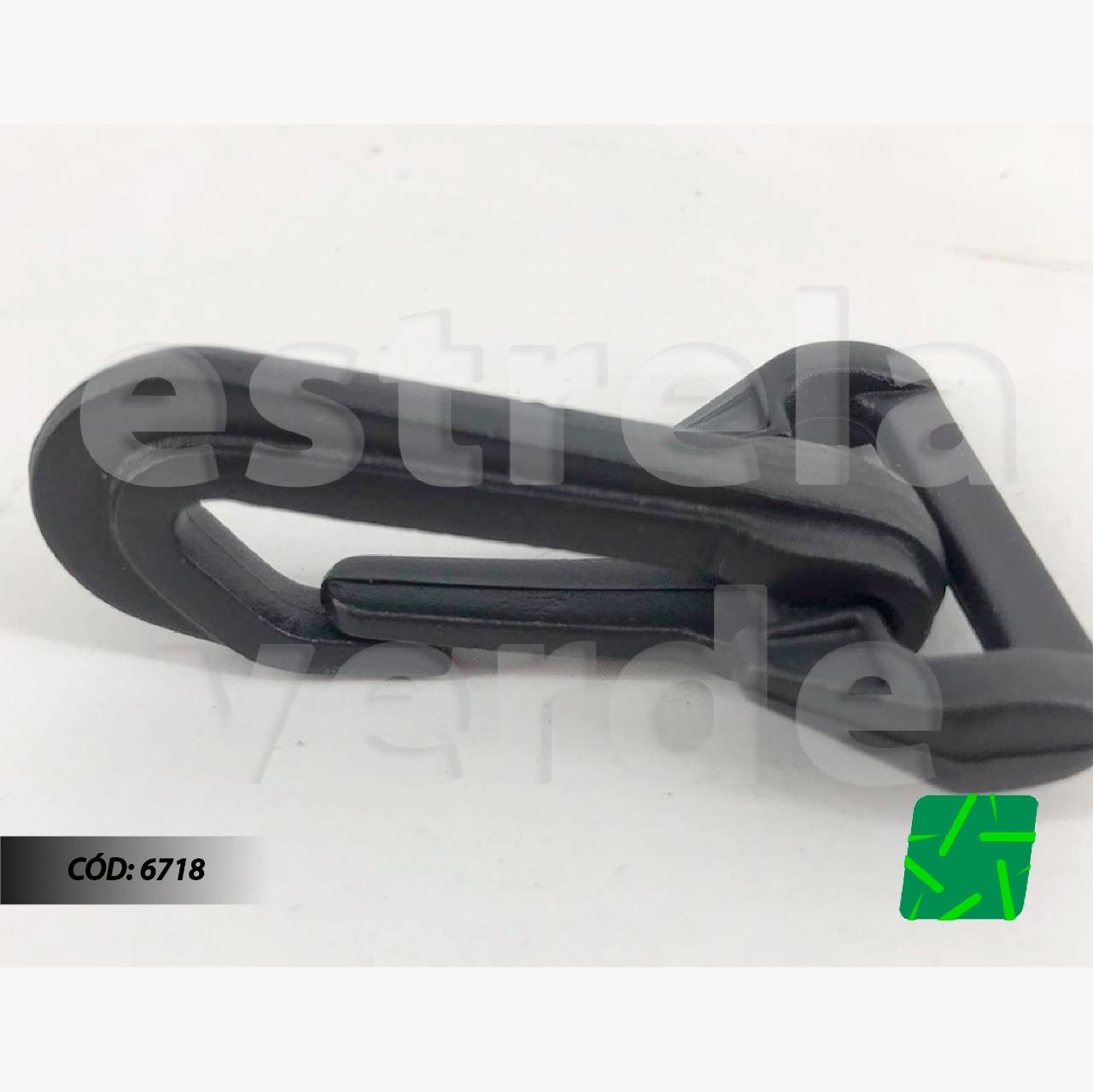MOSQUETE PVC 30MM GANCHO P/ BOLSA 10UN  - Estrela Verde