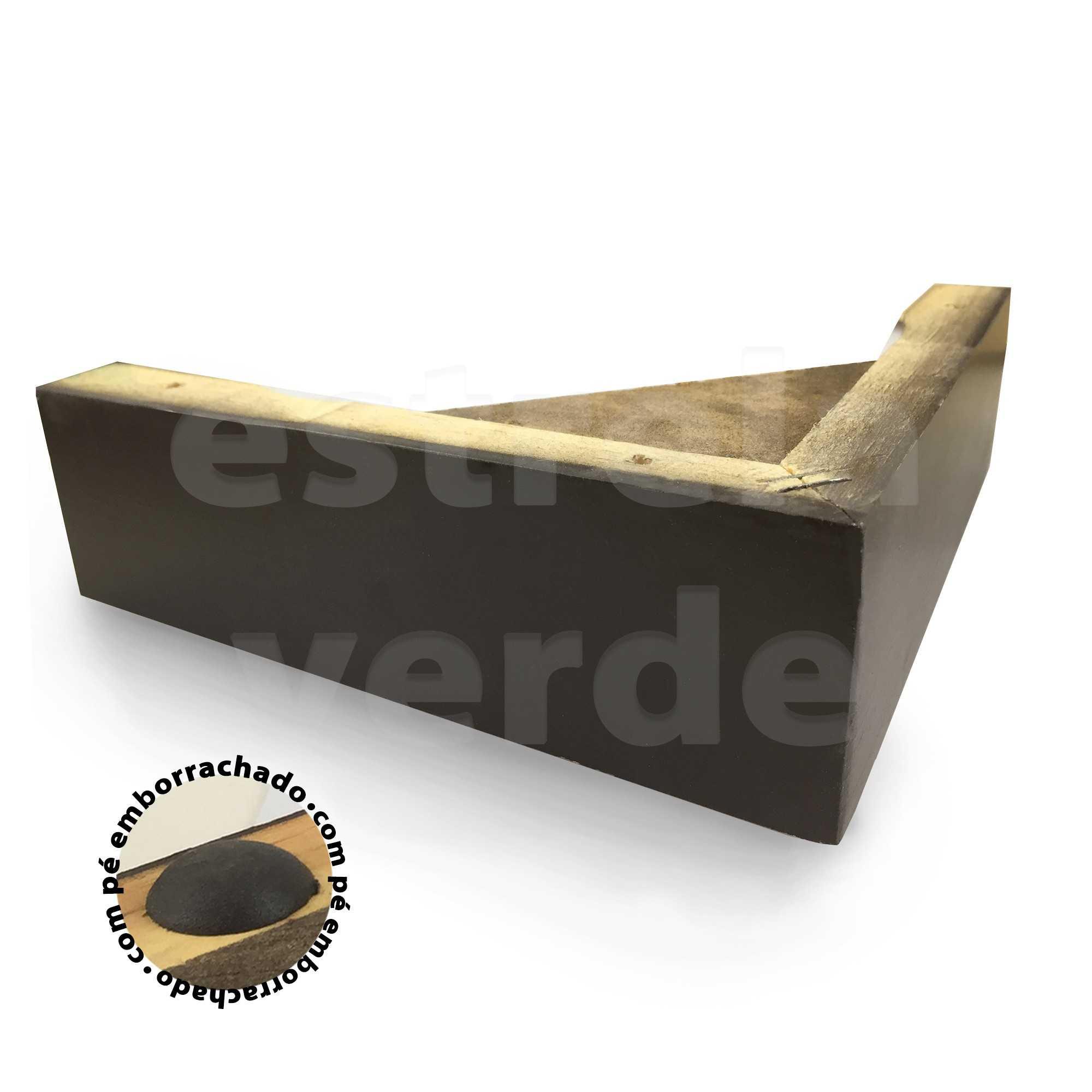 PE MADEIRA CANTONEIRA 20X20X6CM C/ SUPORTE TABACO  - Estrela Verde