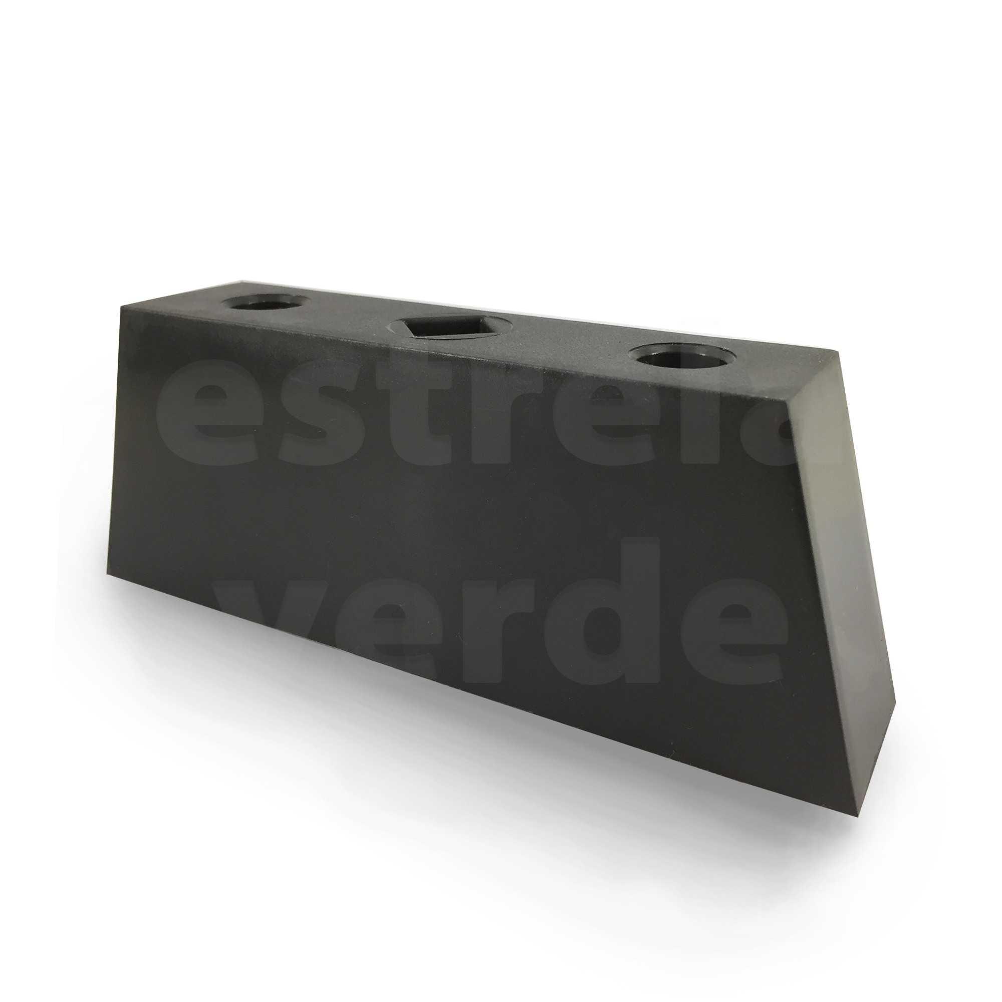 PE PVC PRETO LINEAR 5,5X15CM  - Estrela Verde