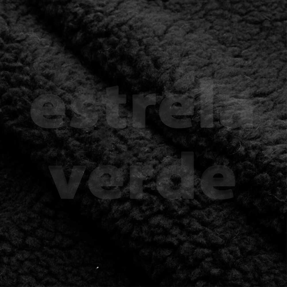 PELUCIA CARAPINHA PRETA 11MM 1,55 LARG  - Estrela Verde