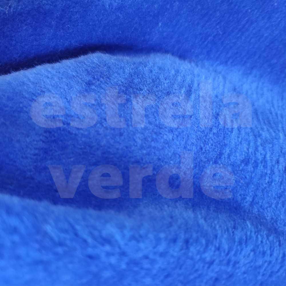 PELUCIA FIO CURTO AZUL ROYAL 12MM 1,60 LARG  - Estrela Verde