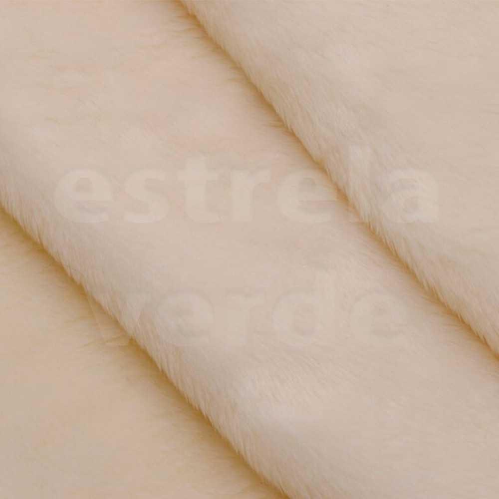 PELUCIA FIO CURTO BAUNILHA 675 12MM 1,60 LARG  - Estrela Verde