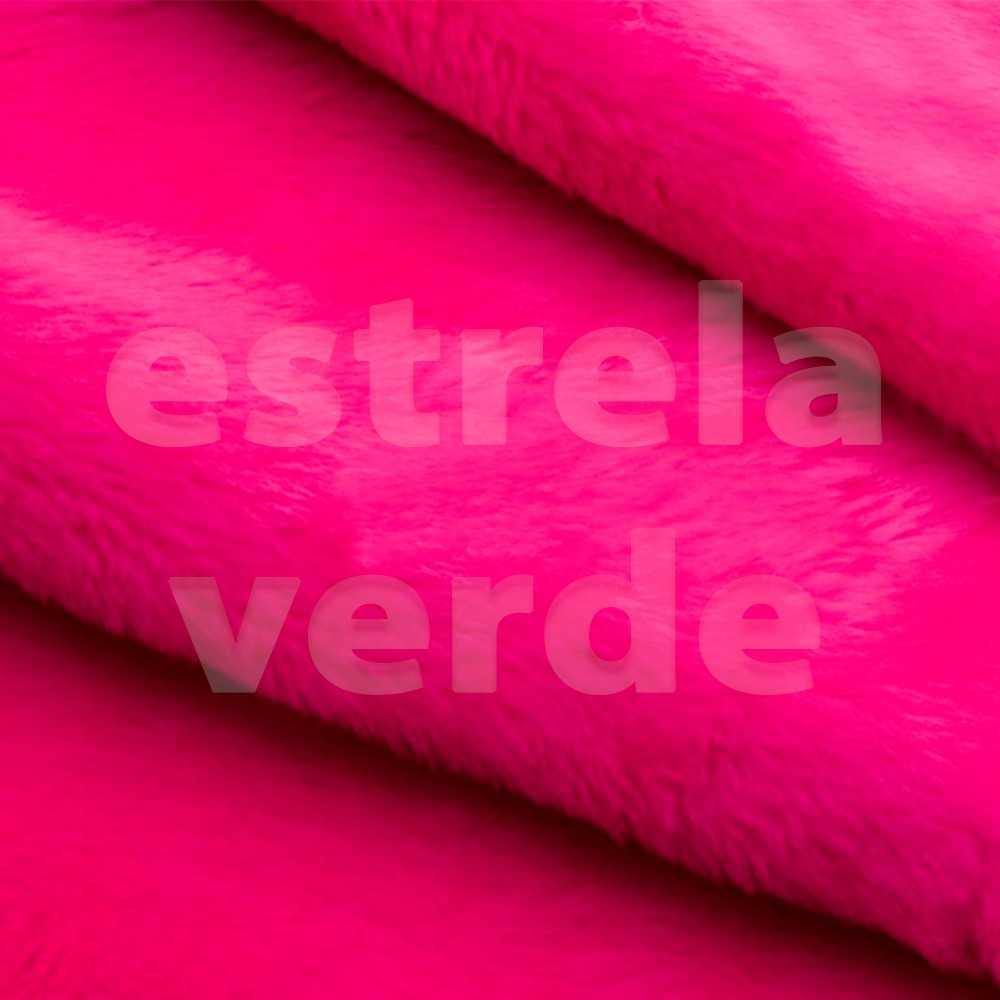 PELUCIA FIO CURTO PINK (SAQUAREMA) 12MM 1,60 LARG  - Estrela Verde