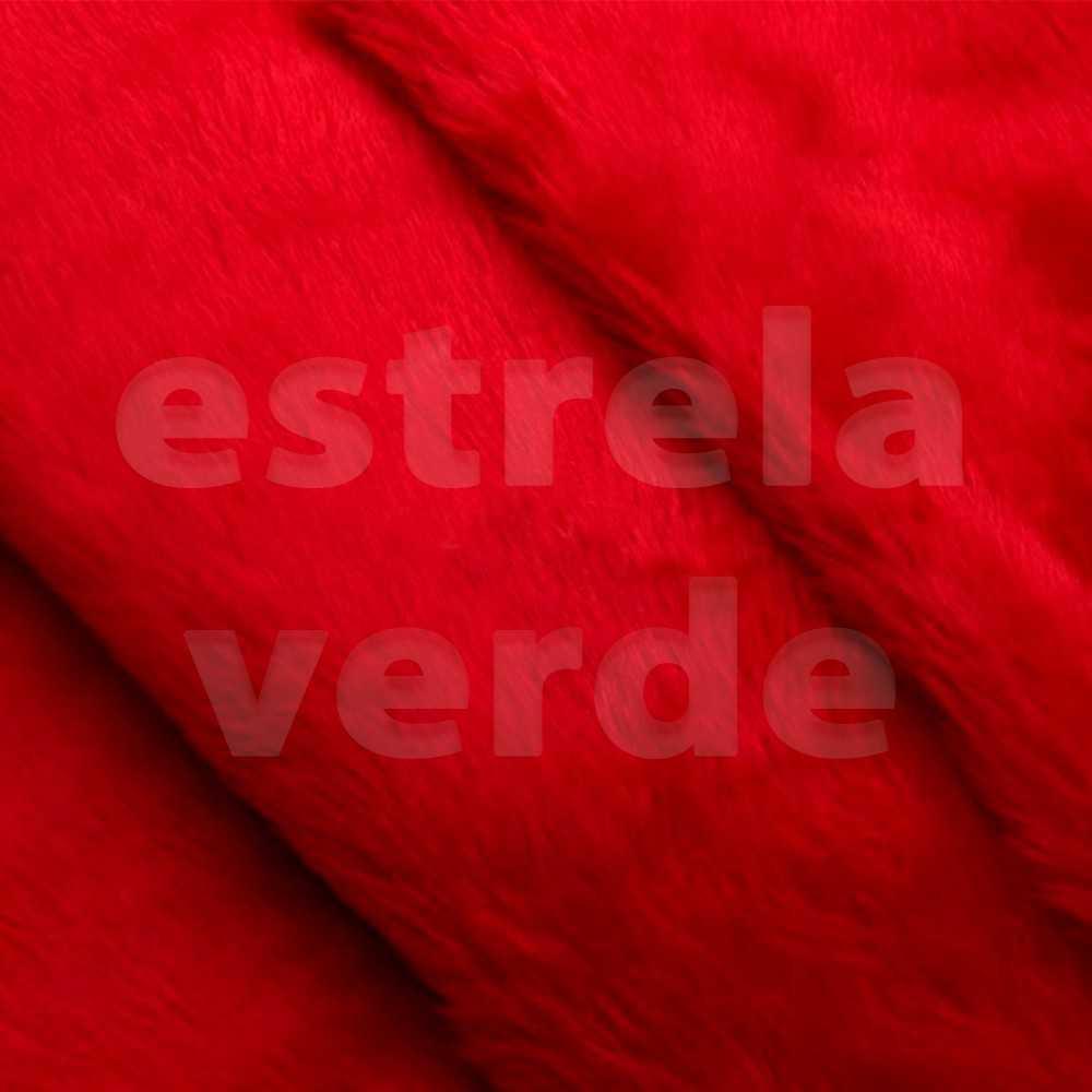 PELUCIA FIO CURTO VERMELHA 12MM 1,60 LARG  - Estrela Verde