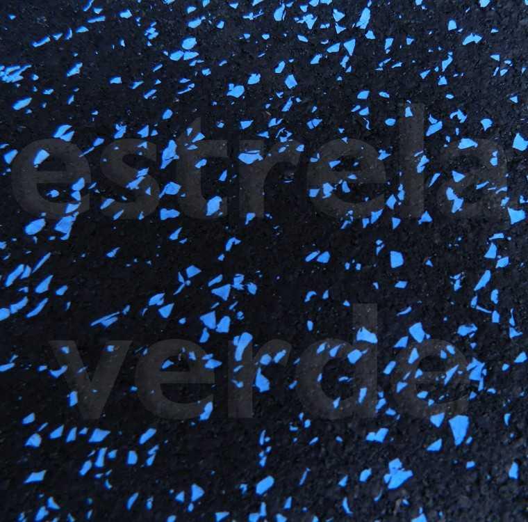 PISO-BORRACHA 5MM ESTRELADO AZUL 1,25 LARG  - Estrela Verde
