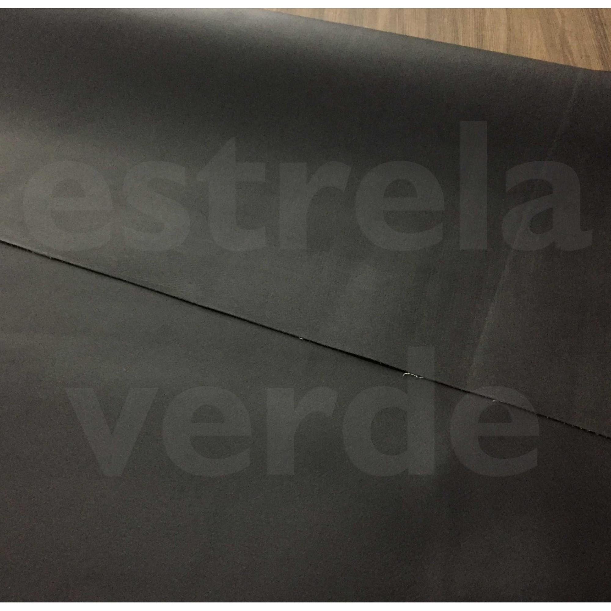PISO PASSADEIRA LISA LINOLEO PRETA FOSCA 0.7MM 1,4  - Estrela Verde