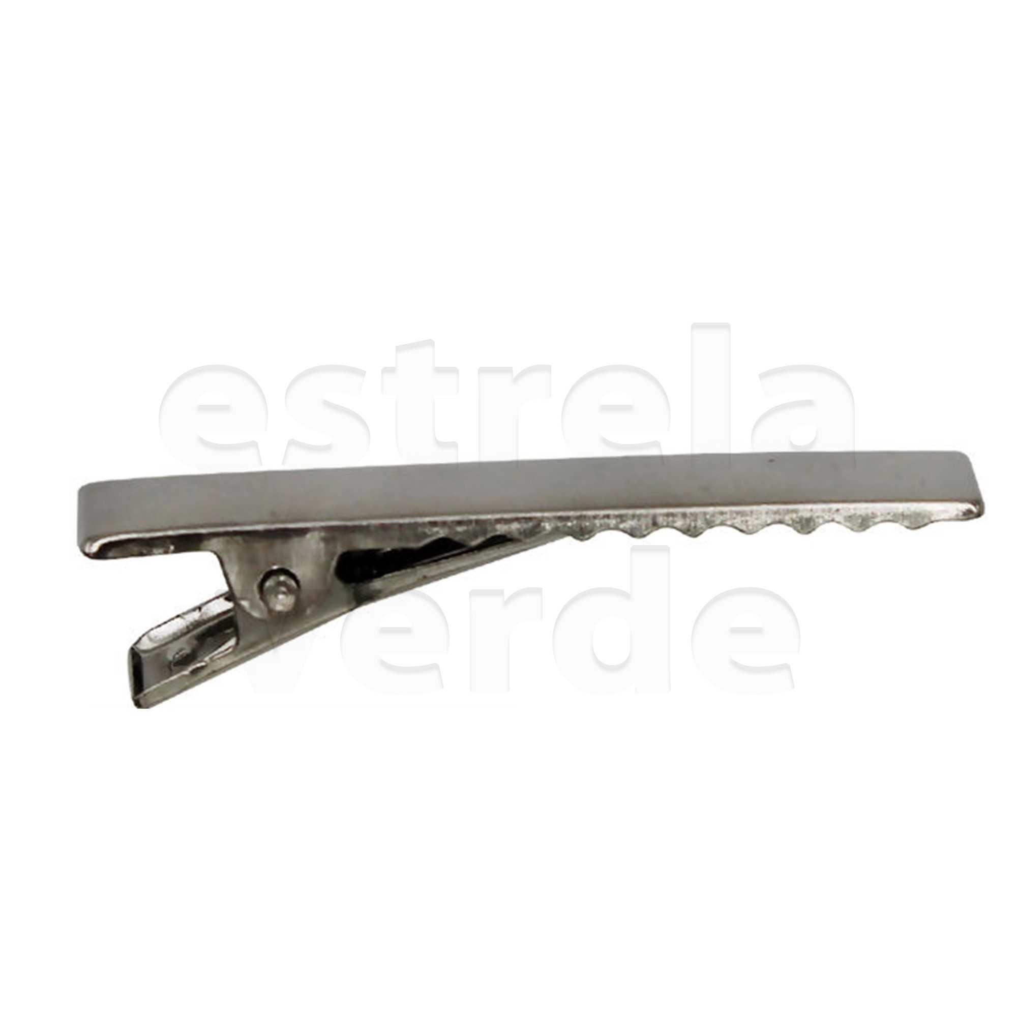 PRESILHA JACARE 32MM RO115116 C/100UN NIQUEL  - Estrela Verde