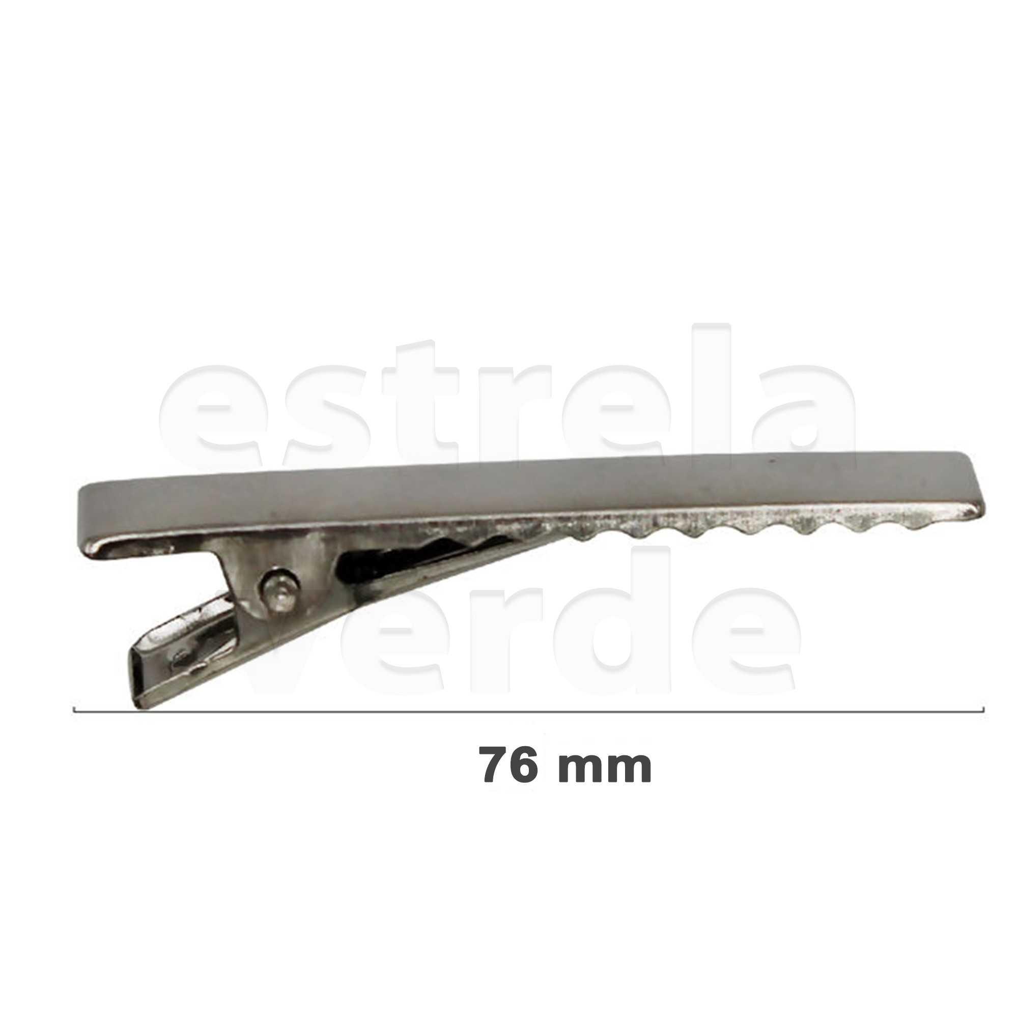 PRESILHA JACARE 76MM RO115116 C/100UN NIQUEL  - Estrela Verde