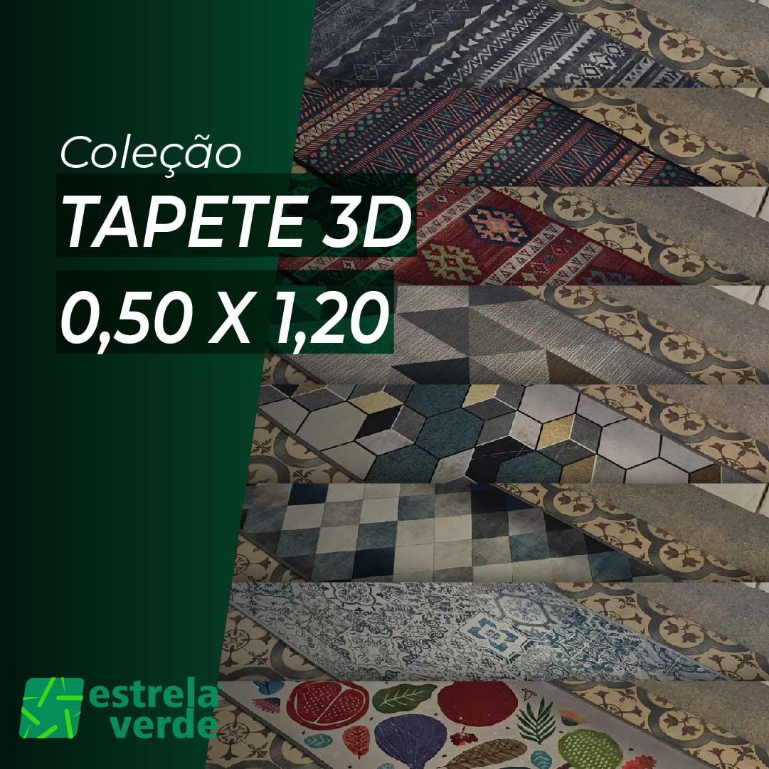 TAPETE 3D 0,50 X 1,20  - Estrela Verde