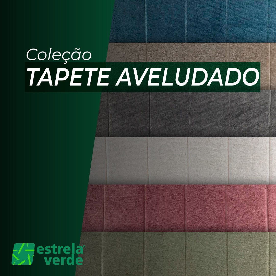 TAPETE AVELUDADO 40X60 TAP-BA08  - Estrela Verde