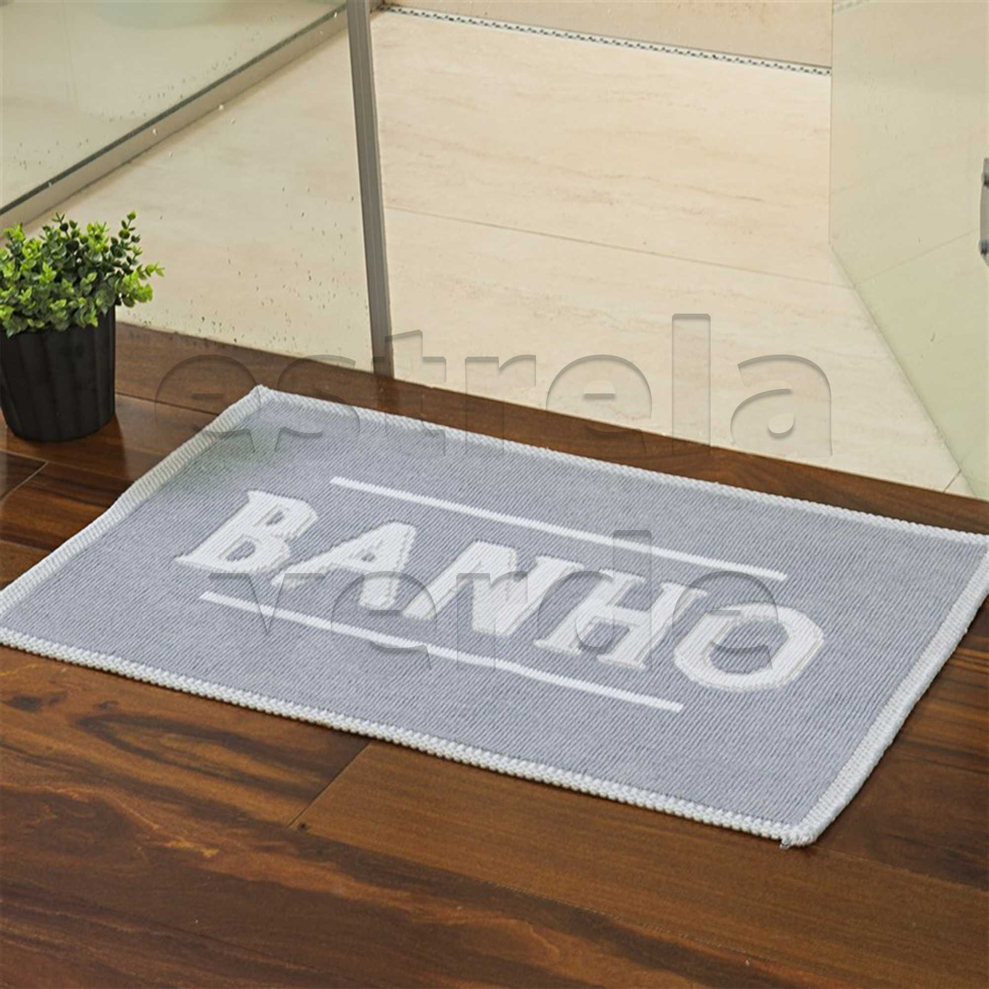 TAPETE BANHO 0,50 X 0,80 AZUL ROYAL  - Estrela Verde