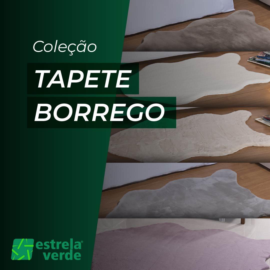 TAPETE PELE BORREGO 0,60 X 0,90  - Estrela Verde