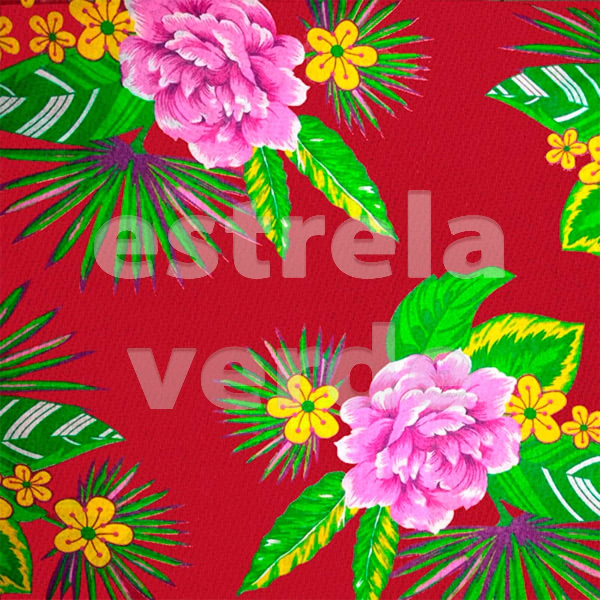 TECIDO CHITAO 2612/2 LILAS/MARROM 1,40 LARG  - Estrela Verde