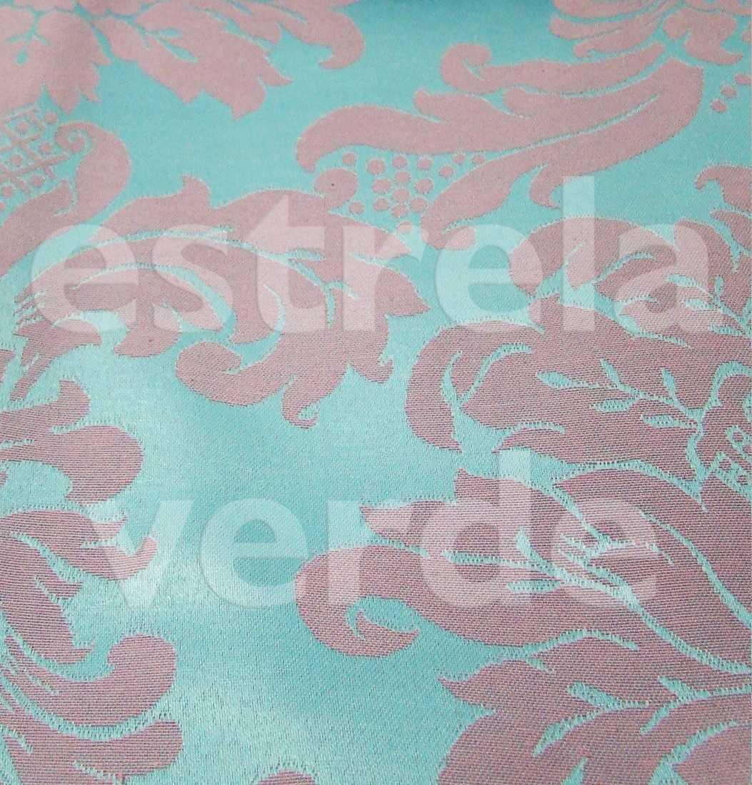 JACQUARD ROSA C/ AZUL TIFFANY (1139-68) 2,8 DESCON  - Estrela Verde