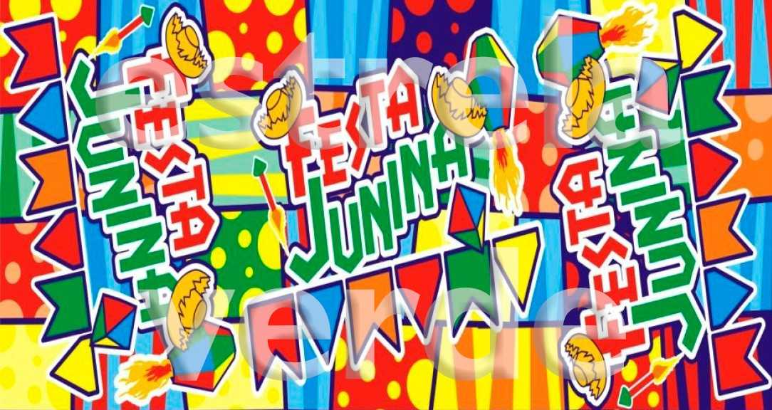 TNT ESTAMPADO FESTA JUNINA BANDEIRA DE FESTA  - Estrela Verde