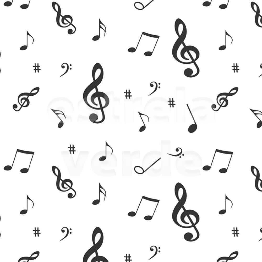 TNT ESTAMPADO NOTAS MUSICAIS  - Estrela Verde