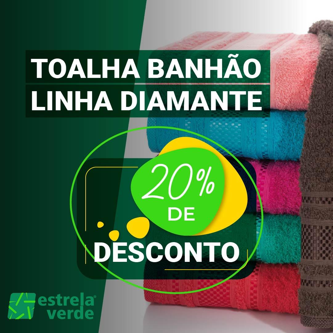 TOALHA BANHAO DIAMANTE 0,80X1,65  - Estrela Verde
