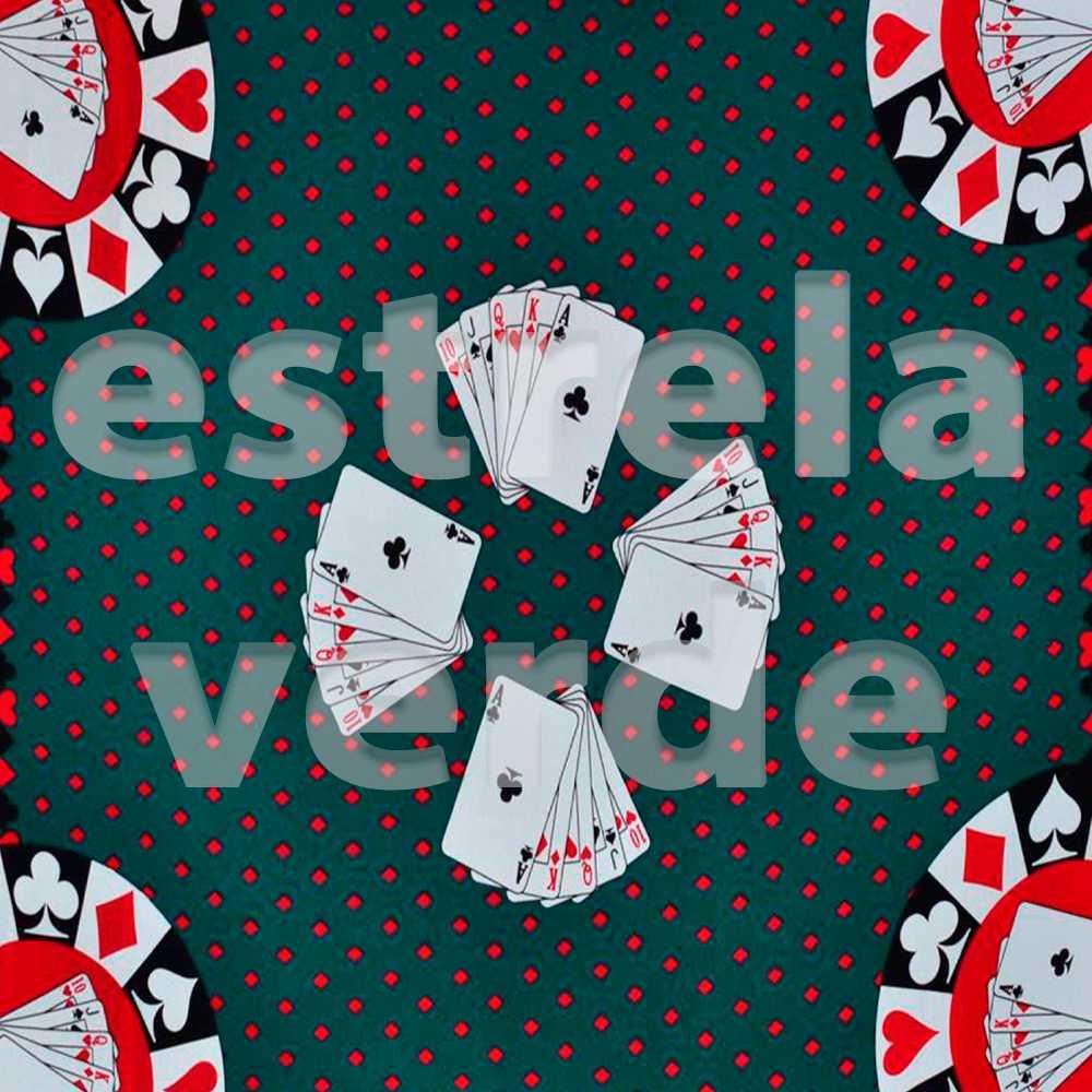 TOALHA BARALHO OXFORD CARTAS 508/647  - Estrela Verde
