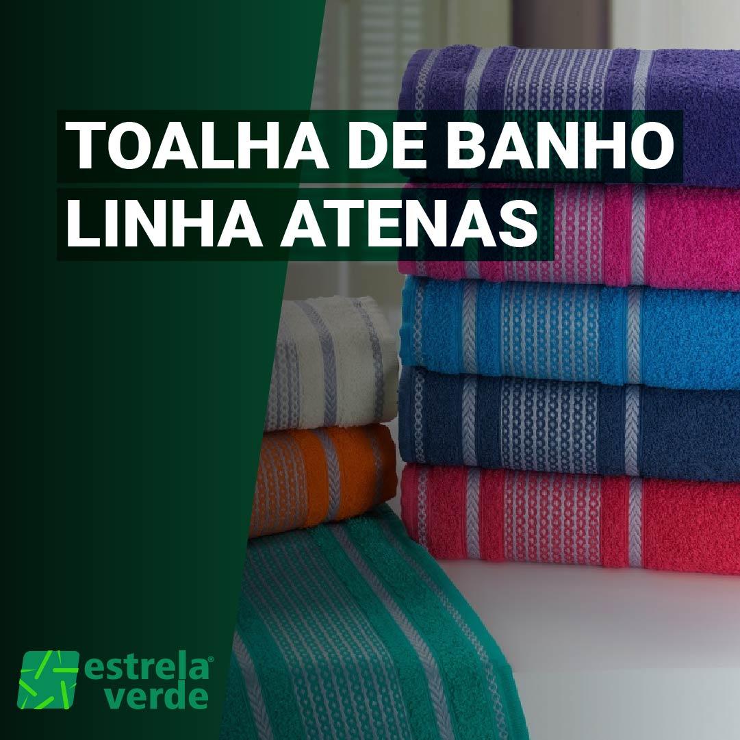 TOALHA DE BANHO ATENAS 0,70X1,40  - Estrela Verde