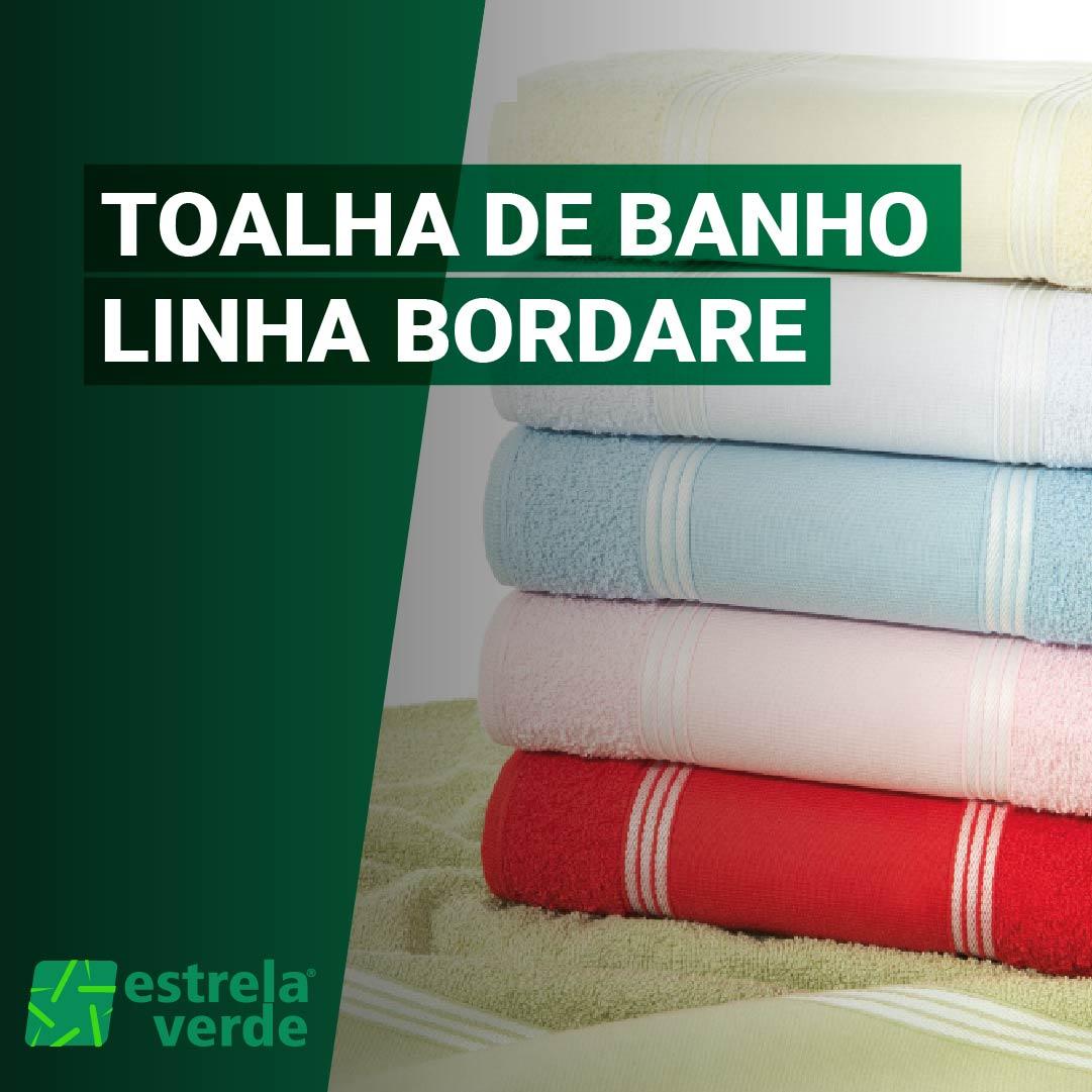 TOALHA DE BANHO BORDARE 0,70X1,35  - Estrela Verde
