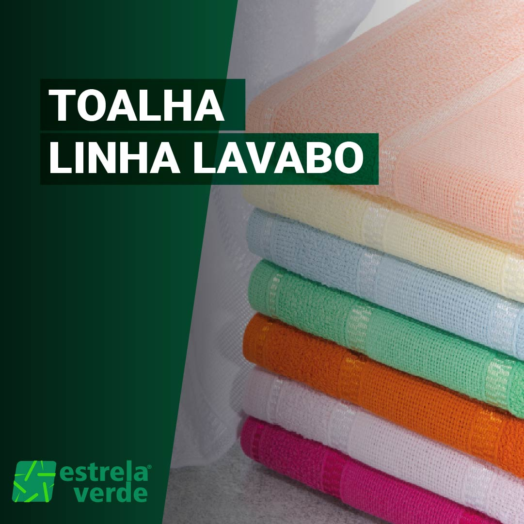 TOALHA DE LAVABO 0,30X0,45  - Estrela Verde