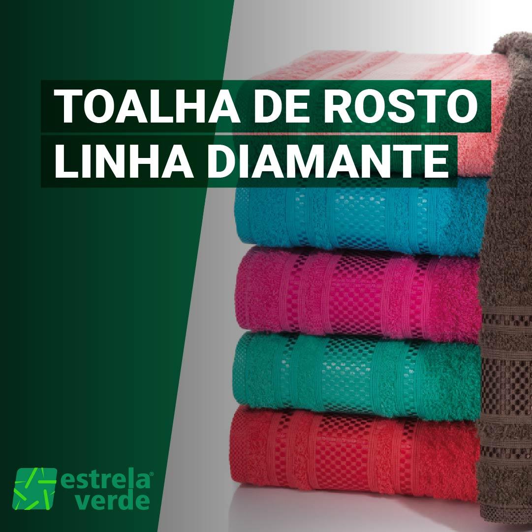 TOALHA DE ROSTO DIAMANTE 0,50X0,80  - Estrela Verde