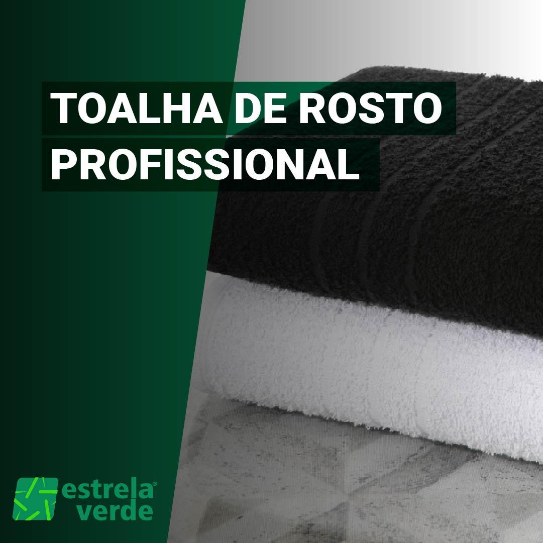 TOALHA DE ROSTO PROFISSIONAL 0,45X0,80  - Estrela Verde