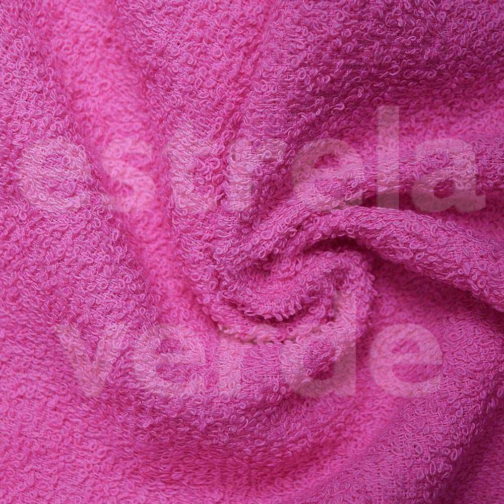 TOALHA FELPUDA ROSA PINK EM METRO 280GR  1,40 LARG  - Estrela Verde