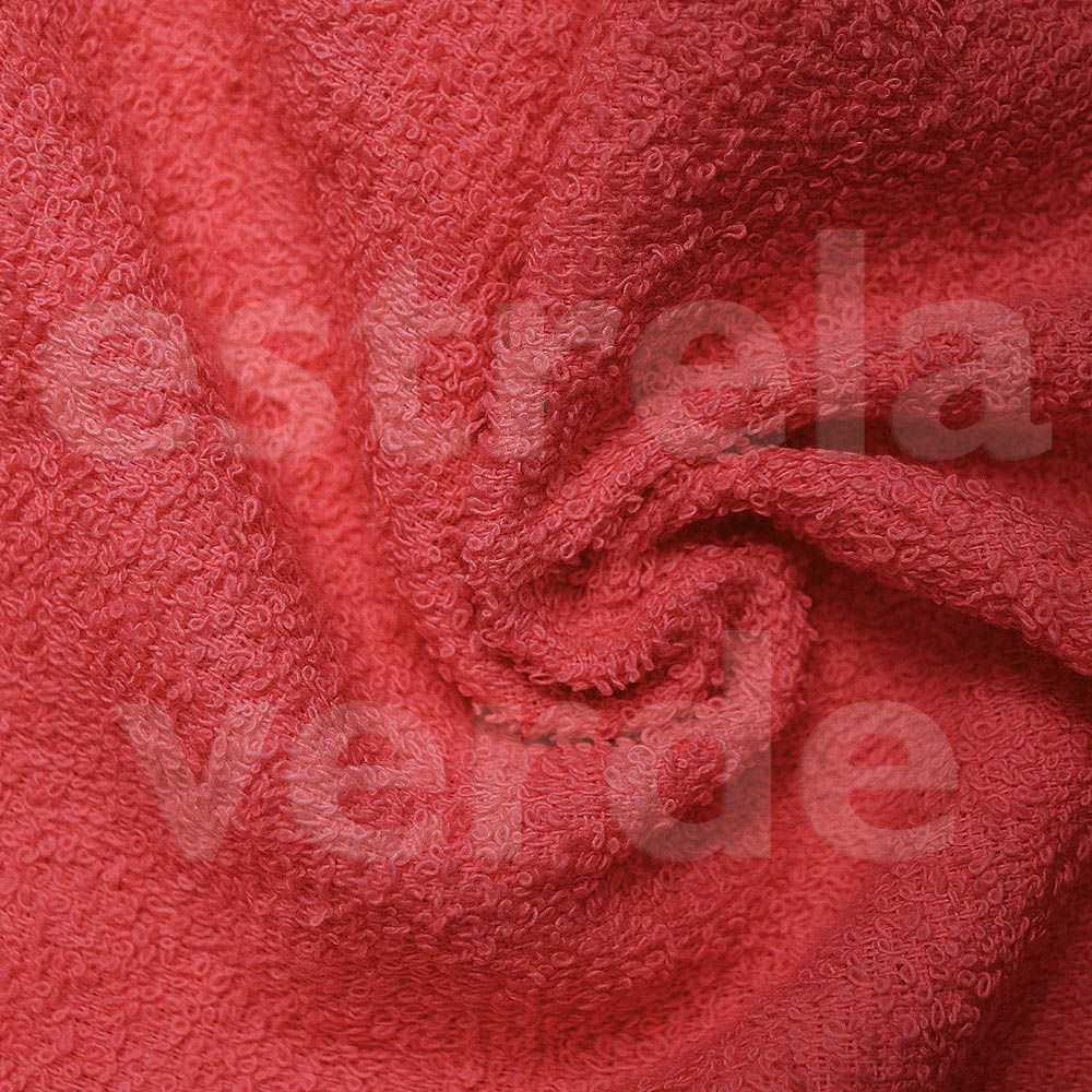 TOALHA FELPUDA VERMELHA EM METRO 280GR  1,40 LARG  - Estrela Verde