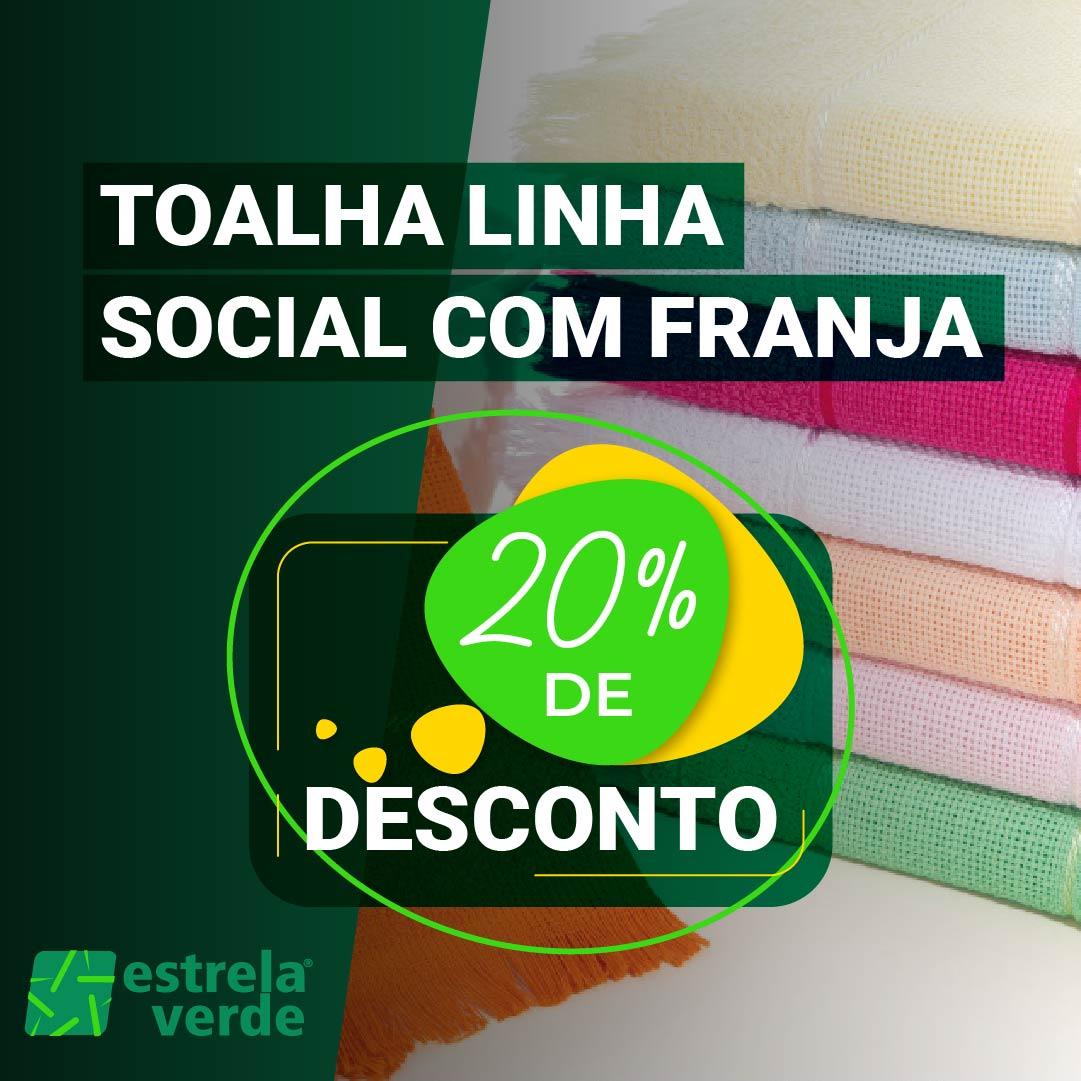 TOALHA SOCIAL FRANJA 0,20X0,35  - Estrela Verde