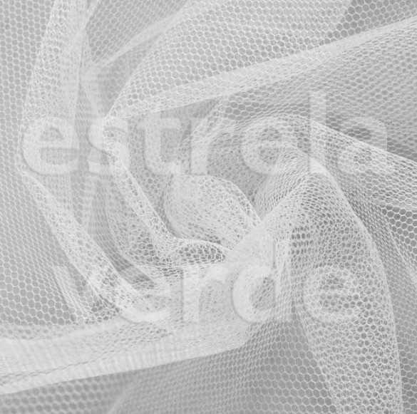 TULE FILO ARMADO BRANCO 3,16 LARG  - Estrela Verde
