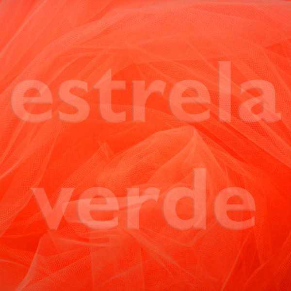 TULE PA 100% POLIAMIDA LARANJA 32 1,20 LARG  - Estrela Verde